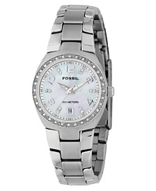 Fossil Women's Serena Stainless Steel Bracelet Watch 28MM AM4141