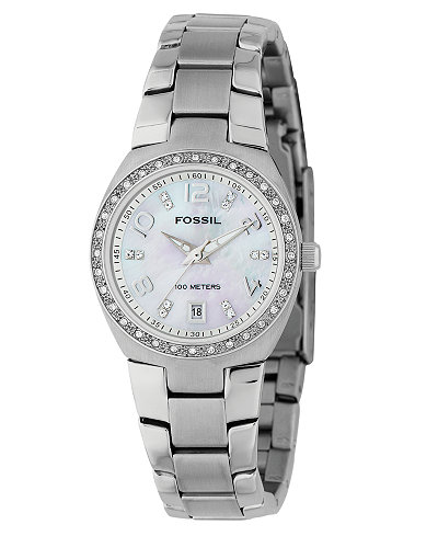 fossil women s stainless steel bracelet watch am4141 watches fossil women s stainless steel bracelet watch am4141