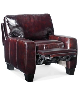H&ton Leather Recliner  sc 1 st  Macyu0027s & Eve Leather Recliner with Ottoman - Furniture - Macyu0027s islam-shia.org
