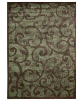 "CLOSEOUT! Area Rug, Expressions XP02 Brown 3' 6"" x 5' 6"""