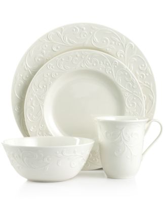 Dinnerware Opal Innocence Carved 4 Piece Place Setting  sc 1 st  Macy\u0027s : lenox everyday dinnerware - pezcame.com