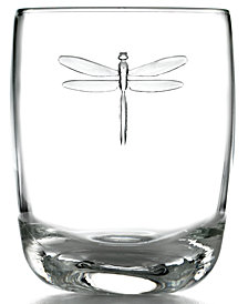 La Rochère Glassware, Set of 6 Dragonfly Double Old-Fashioned Glasses