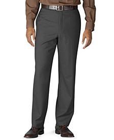 Wool Blend Flat-Front Performance Pants