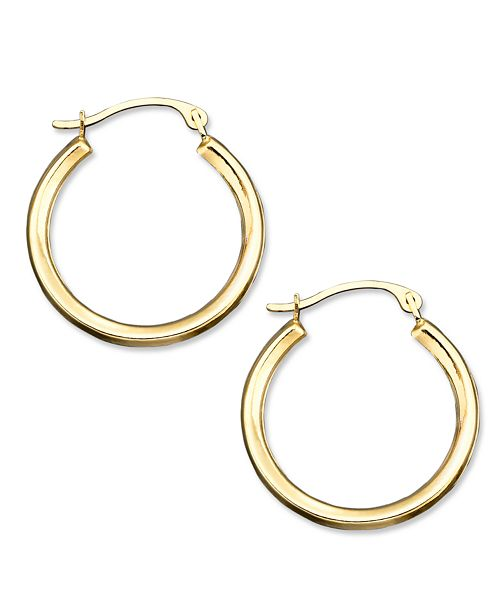Macy's 10k Gold Small Polished Round Hoop Earrings