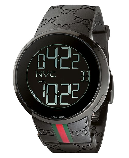 5fed8acdef9 ... Gucci Unisex I-Gucci Collection Black Rubber Strap Watch 44mm YA114207  ...