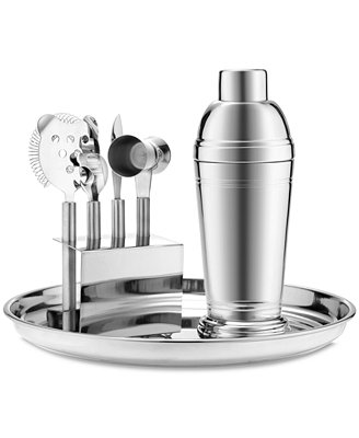 Martha Stewart Collection Barware, Stainless 7-Piece Bar Tool Kit - Bar & Wine - Dining & Entertaining - Macy's