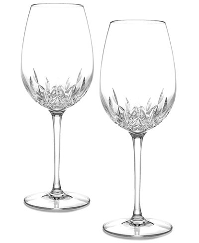 Waterford Stemware Lismore Essence Goblets, Set of 2