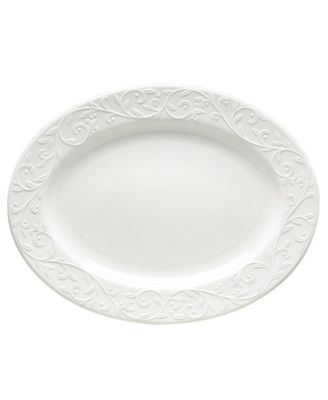 Dinnerware, Opal Innocence Carved Large Oval Platter