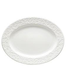 Dinnerware, Opal Innocence Carved Large Oval Platter