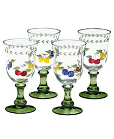 Villeroy & Boch Glassware, Set of 4 French Garden Cheer Water Goblets