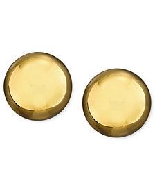 Lauren Ralph Lauren Silver-Tone Metal Bead Stud (10 mm) Earrings