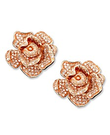 Pave Rose by EFFY® Diamond Flower (1-1/3 ct. t.w.) in 14k Rose Gold