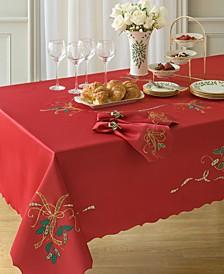 "Holiday Nouveau Cutwork 60"" x 120"" Tablecloth"