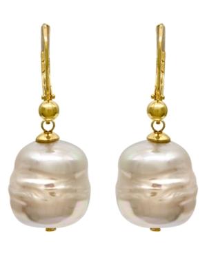 Majorica 18k Gold over Sterling Silver Earrings, Organic Man