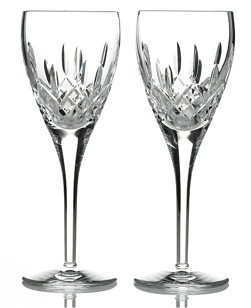 Waterford Stemware Lismore Nouveau Wine Glasses, Set of 2
