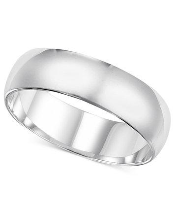 14k White Gold Ring 6mm Wedding Band