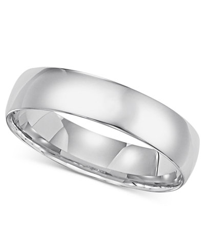 14k White Gold Comfort Fit 5mm Wedding Band