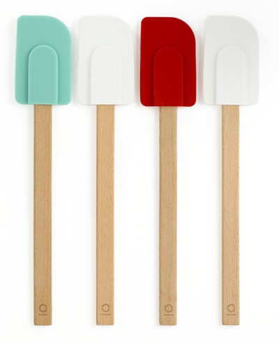 Martha Stewart Collection Set of 4 Sillicone Head Spatulas, Created for Macy's