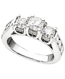 14k White Gold Ring, Diamond (1-3/4 ct. t.w.)
