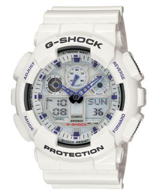g shock men s analog digital white resin strap watch ga100a 7a g shock men s analog digital white resin strap watch ga100a 7a watches jewelry watches macy s