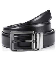 Perry Ellis Portfolio Men's Big and Tall Reversible Leather Dress Belt