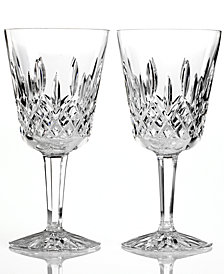Waterford Stemware Lismore Goblets, Set of 2