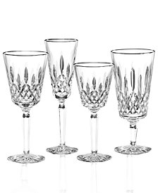 Waterford Stemware, Lismore Tall Platinum Ice Beverage