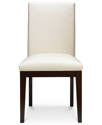 Bari Dining Chair White Leather