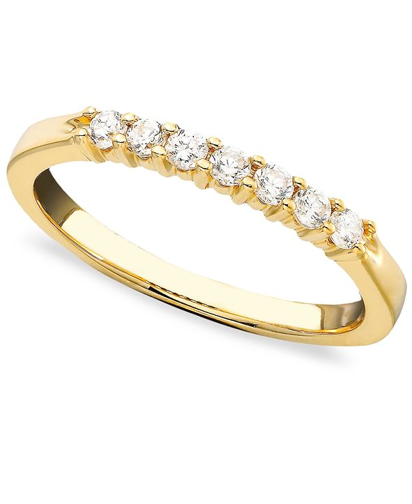 Macy's Seven Diamond Band Ring in 14k Yellow or White Gold (1/4 ct. t.w.)