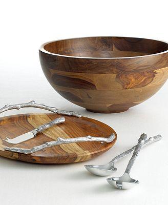 CLOSEOUT! Martha Stewart Collection Wood Serveware Collection