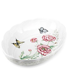 Butterfly Meadow Scalloped Oval Baker