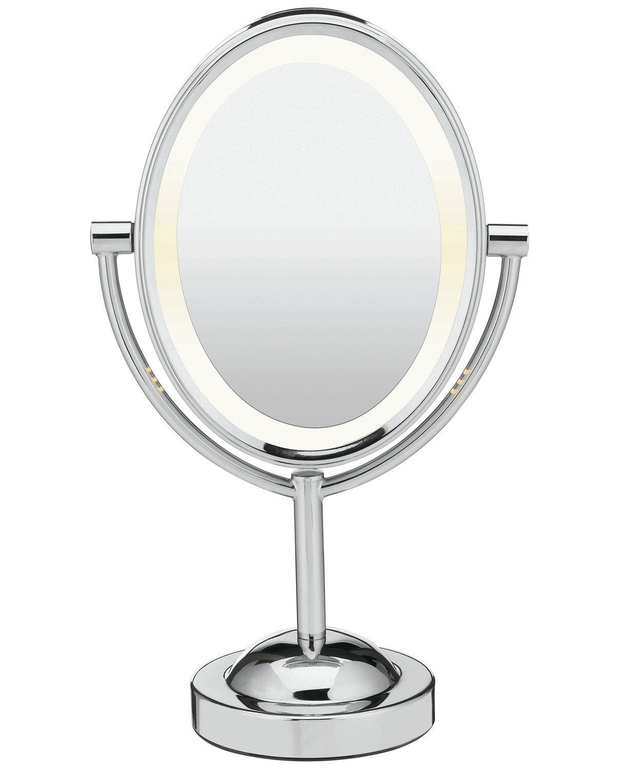 Conair Oval Polished Chrome Double-Sided Makeup Mirror