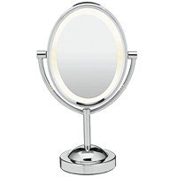 Deals on Conair Oval Polished Chrome Double-Sided Makeup Mirror