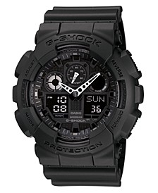 Men's Black Resin Watch, 55mm