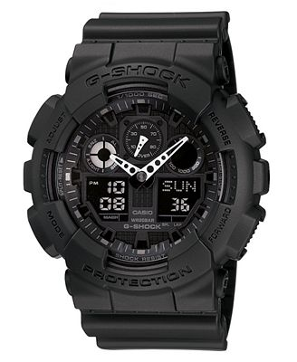 G-Shock Men's Black Resin Strap Watch GA100-1A1