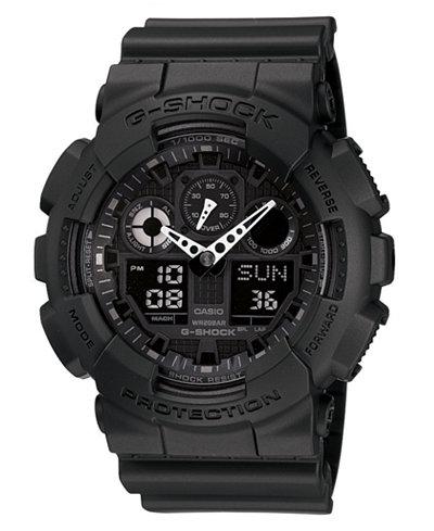 G-Shock Men's Black Resin Strap Watch GA100-1A1
