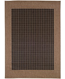 "CLOSEOUT! Recife Checkered Field Black/Cocoa 8'6"" x 13' Indoor/Outdoor Area Rug"