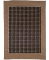 CLOSEOUT! Couristan Area Rugs, Indoor/Outdoor Recife Collection Checkered Field Black-Cocoa
