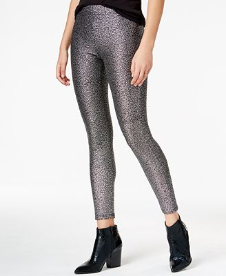 Bar III Metallic Leggings, Created for Macy's