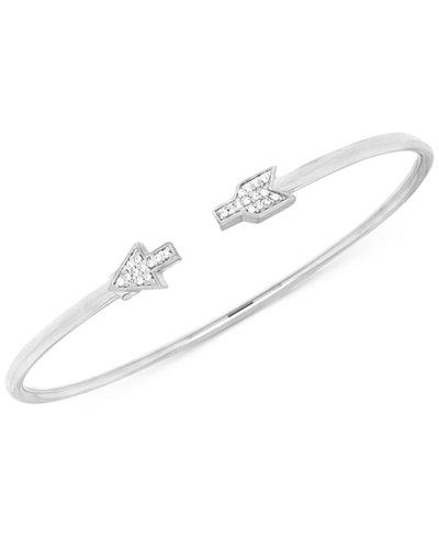 Diamond Arrow Flexie Bangle Bracelet (1/6 ct. t.w.) in Sterling Silver