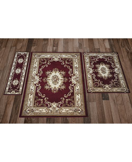 Aubusson Rugs Macys: Kas CLOSEOUT! Corinthian 5308 Red/Ivory Aubusson Area Rugs