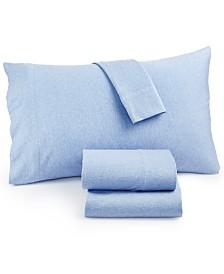 Heathered Cotton Jersey 3-Pc. Solid Twin XL Sheet Set