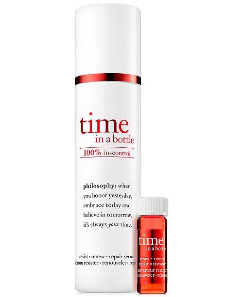 philosophy Time In A Bottle 100% In-Control Repair-Renew-Resist Serum, 1.3 oz