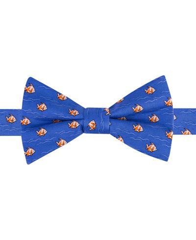 Tommy Hilfiger Men 39 S Fish Print To Tie Bow Tie Ties
