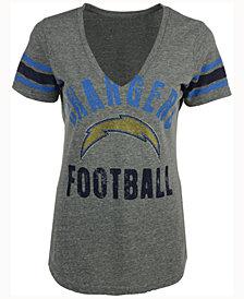 G-III Sports Women's San Diego Chargers Any Sunday Rhinestone T-Shirt
