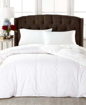 Medium Weight White Down Twin Comforter, 100% Cotton Cover
