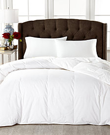 Lauren Ralph Lauren Medium Weight White Down Comforters, 100% Cotton Cover