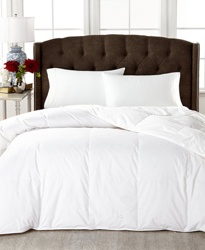 Lauren Ralph Medium Weight White Down Comforters 100 Cotton Cover