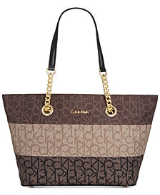 Calvin Klein Florence Top-Zip Signature Tote