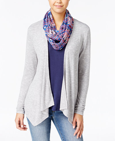 Belle Du Jour Juniors' Cardigan, T-Shirt and Scarf Set